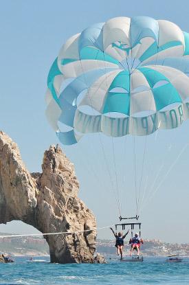 Parasailing in Cabo San Lucas Mexico
