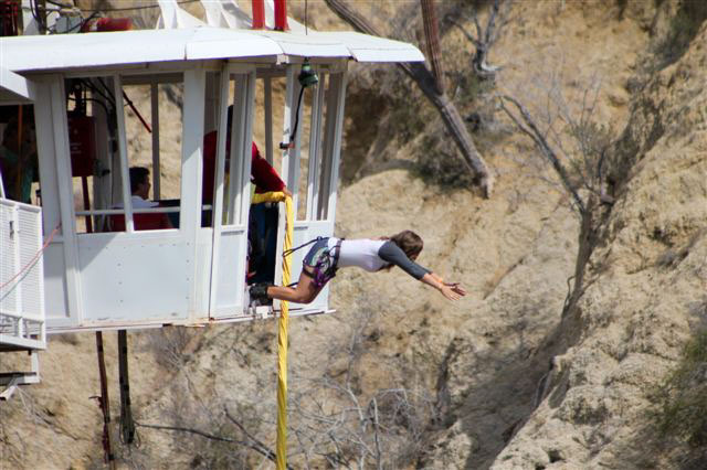 Bungee jumping in Los Cabos Mexico